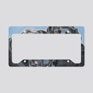 two black labs online store License Plate Holder