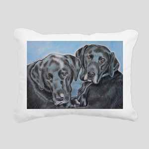 two black labs online st Rectangular Canvas Pillow