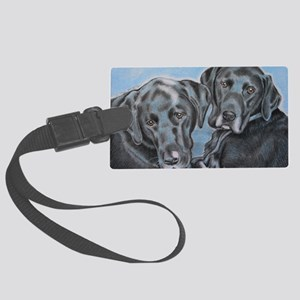 two black labs online store Large Luggage Tag