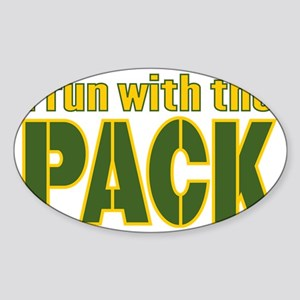 irun-with-the-pack Sticker (Oval)