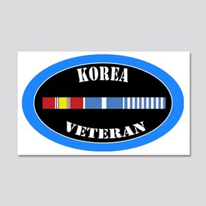 korea-0-1-oval 20x12 Wall Decal