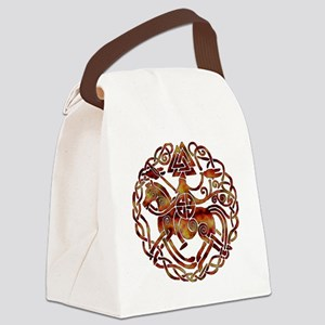 sleipnir2_fire Canvas Lunch Bag