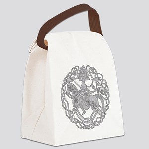 nsleipnir2_white Canvas Lunch Bag