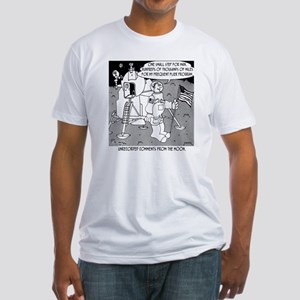 5227_space_cartoon Fitted T-Shirt