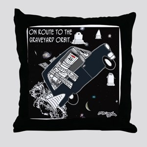 8225_space_cartoon Throw Pillow