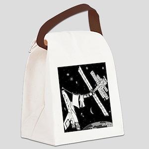 8585_space_cartoon Canvas Lunch Bag