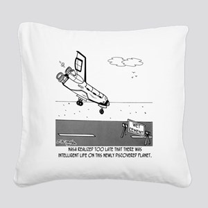 4902_cement_cartoon Square Canvas Pillow