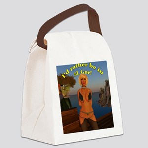 rather-be-in-slgor Canvas Lunch Bag