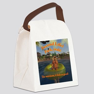 tubing-sunglasses Canvas Lunch Bag