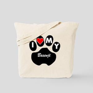 I Heart My Basenji Tote Bag