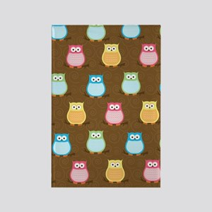 Colorful Owl Brown Trendy iphone  Rectangle Magnet