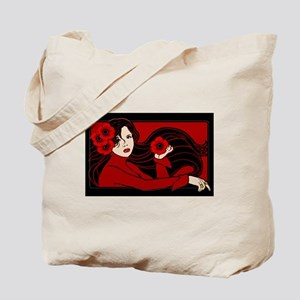 The Poppy Maiden Tote Bag