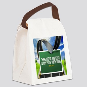 Places Worth Going Quote Canvas Lunch Bag