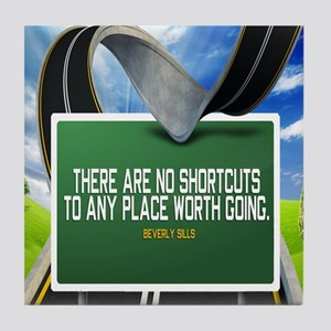 Places Worth Going Quote Tile Coaster