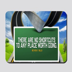 Places Worth Going Quote Mousepad
