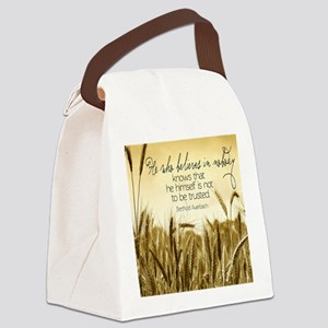 To Be Trusted Quote Canvas Lunch Bag