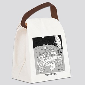 3048_space_cartoon Canvas Lunch Bag