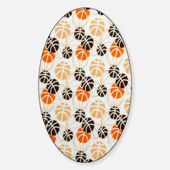 Basketballs Sticker (Oval)