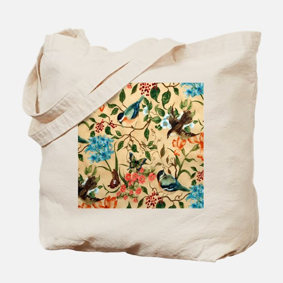 Botanical Little Robin Tote Bag