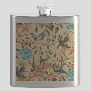 Botanical Little Robin Flask
