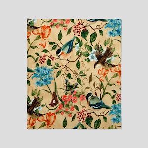 Botanical Little Robin Throw Blanket