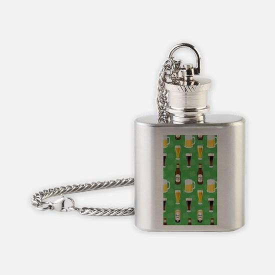 Green Beer Irish 4G phone case Flask Necklace