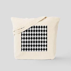 Calico White Harlequin Tote Bag