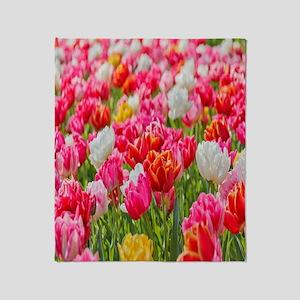 bright-vivid-flowers Throw Blanket