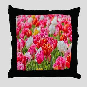 bright-vivid-flowers Throw Pillow