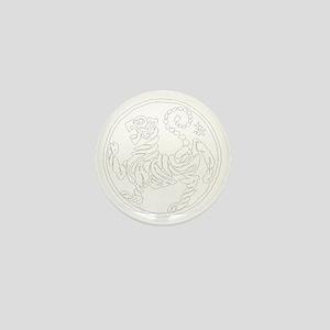 ShotokanTiger5InchWhiteTigerAlltranspa Mini Button
