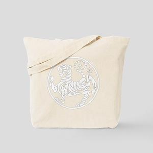ShotokanTiger5InchWhiteTigerAlltransparen Tote Bag