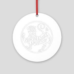 ShotokanTiger5InchWhiteTigerAlltran Round Ornament