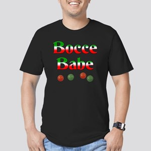 Bocce Babe Men's Fitted T-Shirt (dark)