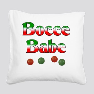 Bocce Babe Square Canvas Pillow