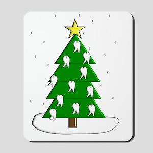 Dentist tooth christmas tree NO BACKGROU Mousepad