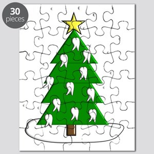Dentist tooth christmas tree NO BACKGROUND Puzzle