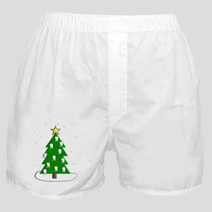 Dentist tooth christmas tree NO BACKG Boxer Shorts