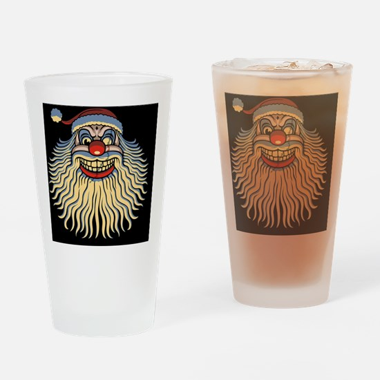 scary-clown-santa-CRD Drinking Glass