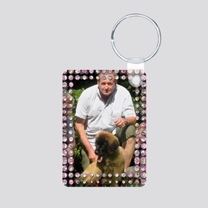 Personalizable Pink Bling Frame Aluminum Photo Key