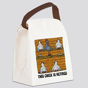 Retired Chick Canvas Lunch Bag