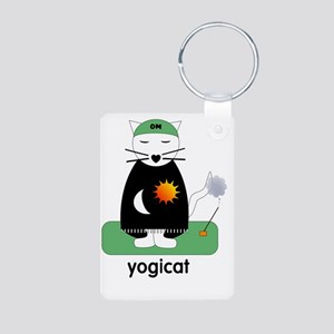 yogicatnew Aluminum Photo Keychain