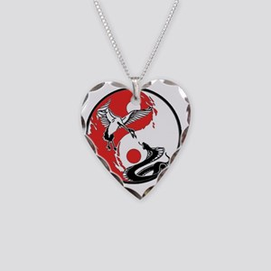 BlackRed_SnakeCrane_Final Necklace Heart Charm