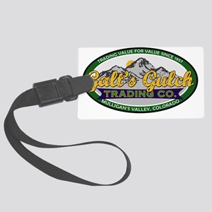 Galts Gulch Trading Co oval logo Large Luggage Tag