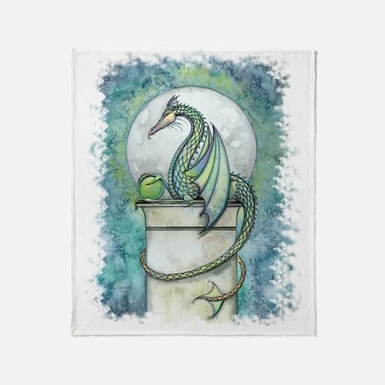green dragon no background Throw Blanket