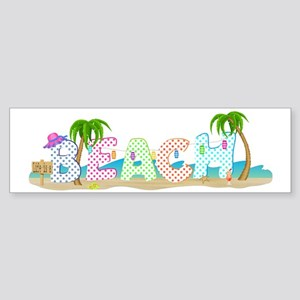 Life is a Beach Shirt Sticker (Bumper)