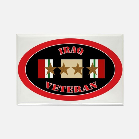 Iraq-4-oval Rectangle Magnet