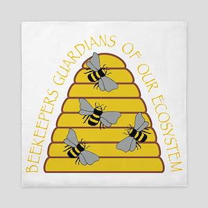 beekeepers dark Queen Duvet