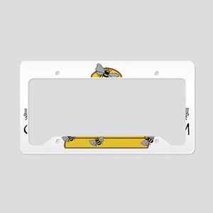 beekeepers wide License Plate Holder