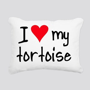 ihearttortoise Rectangular Canvas Pillow