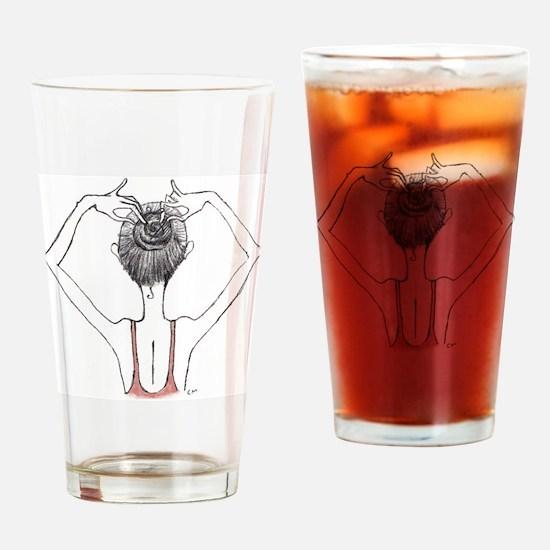 Bunhead Drinking Glass